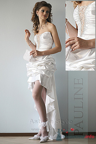 Короткое спереди свадебное платье а
