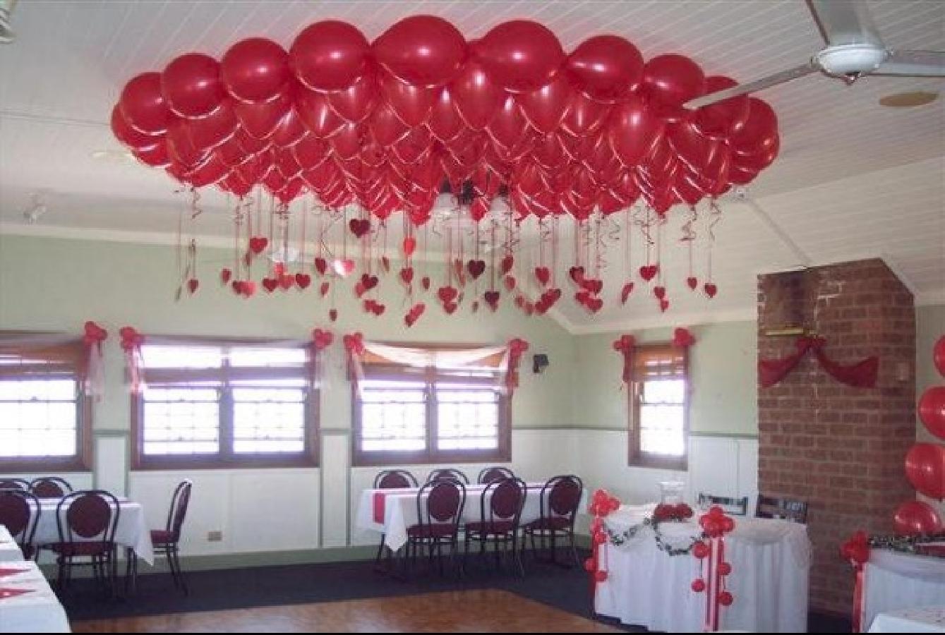 потолок 4 - Свадьба - Примеры работ и стоимость - Оформление воздушными шарами.