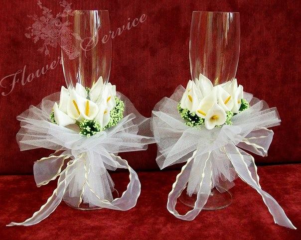 22 варианта дизайна свадебных фужеров - Блог - Премьер