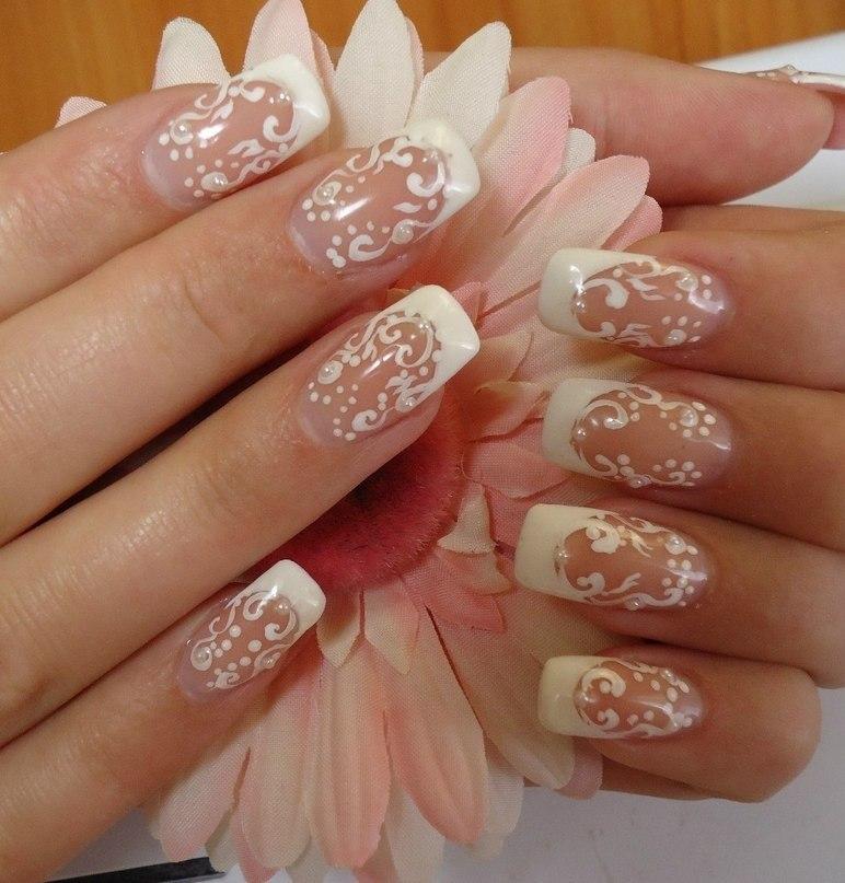 Фото ногтей свадебный дизайн