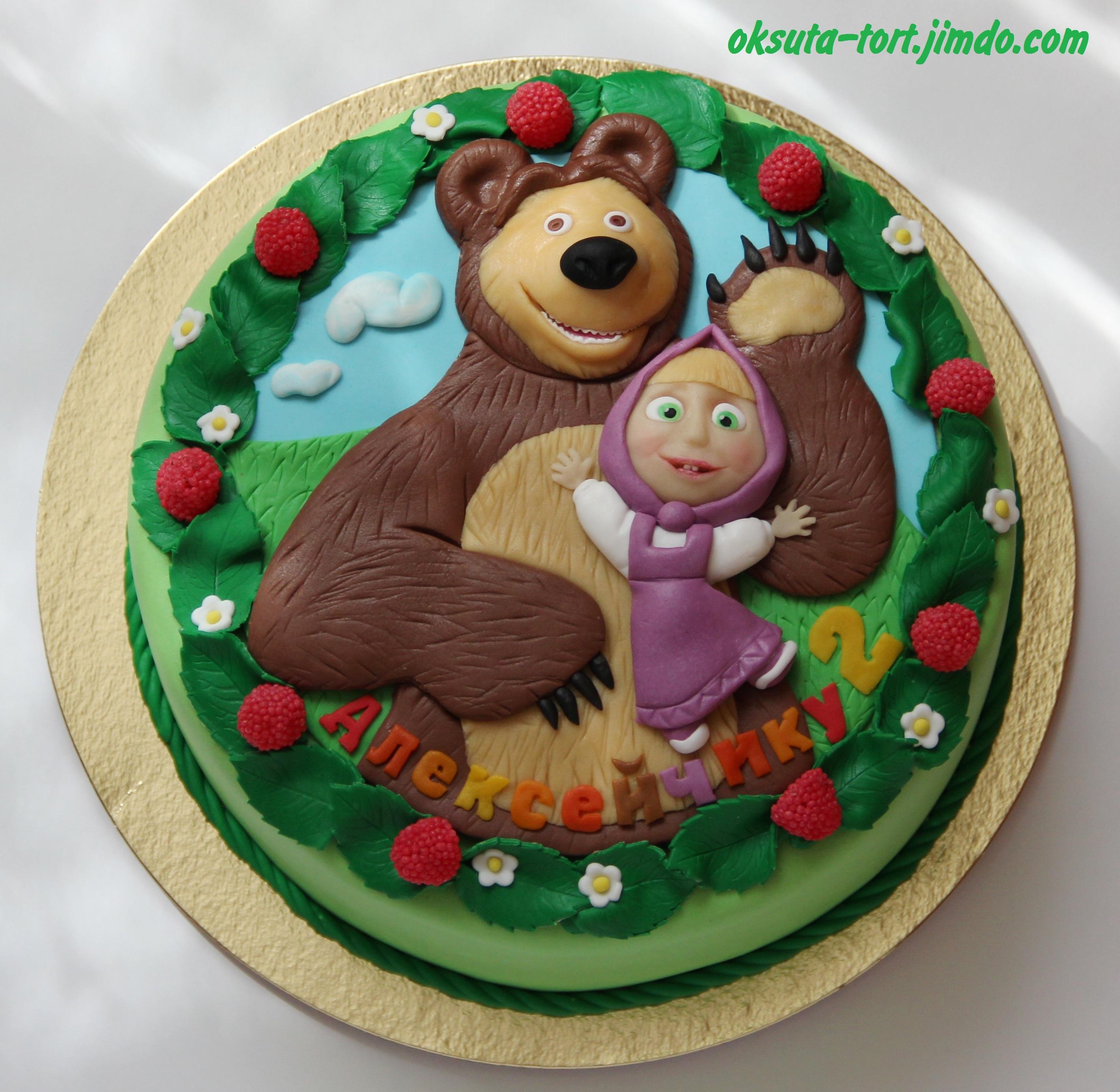 Торты маша и медведь своими руками