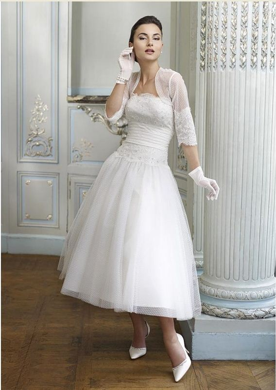 Платье свадебное в стиле 60