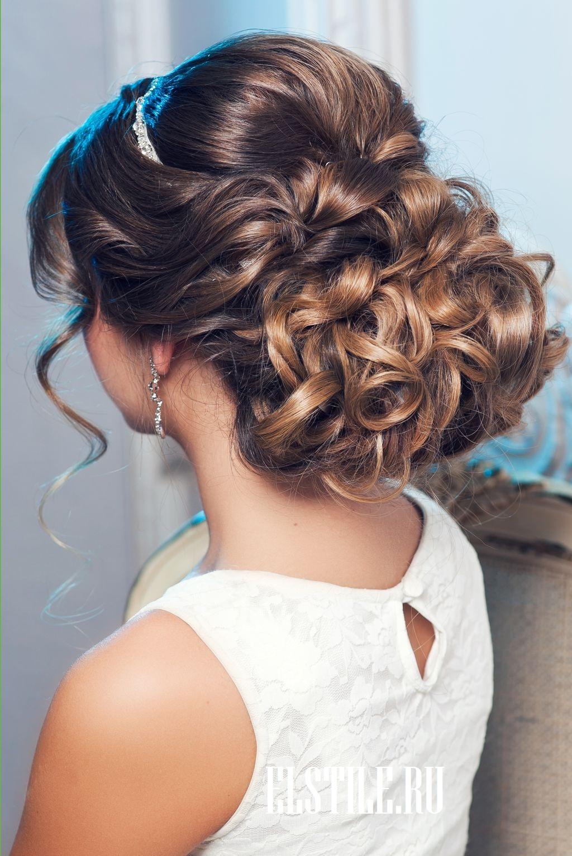 Вечерние собранные причёски на длинные волосы