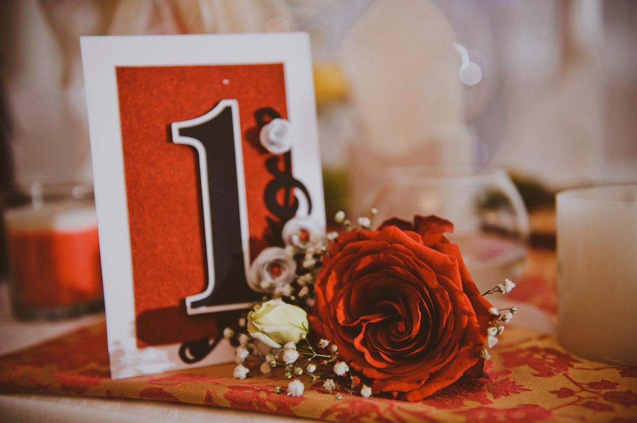 Номерки для столов своими руками Красивая Свадьба 25
