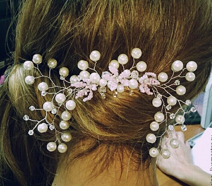 Как сделать украшение для волос из проволоки