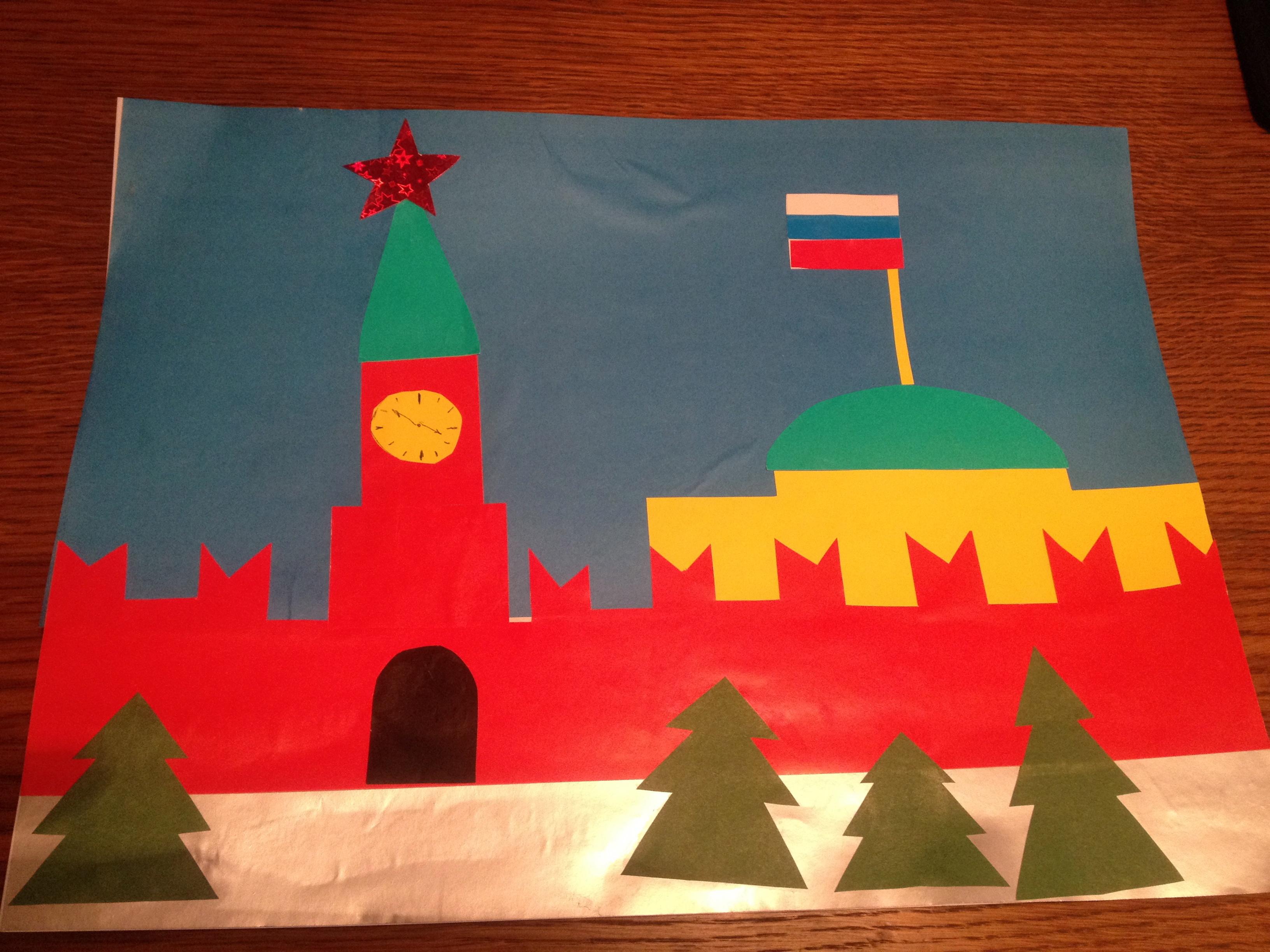 Шаблон кремля для поделки