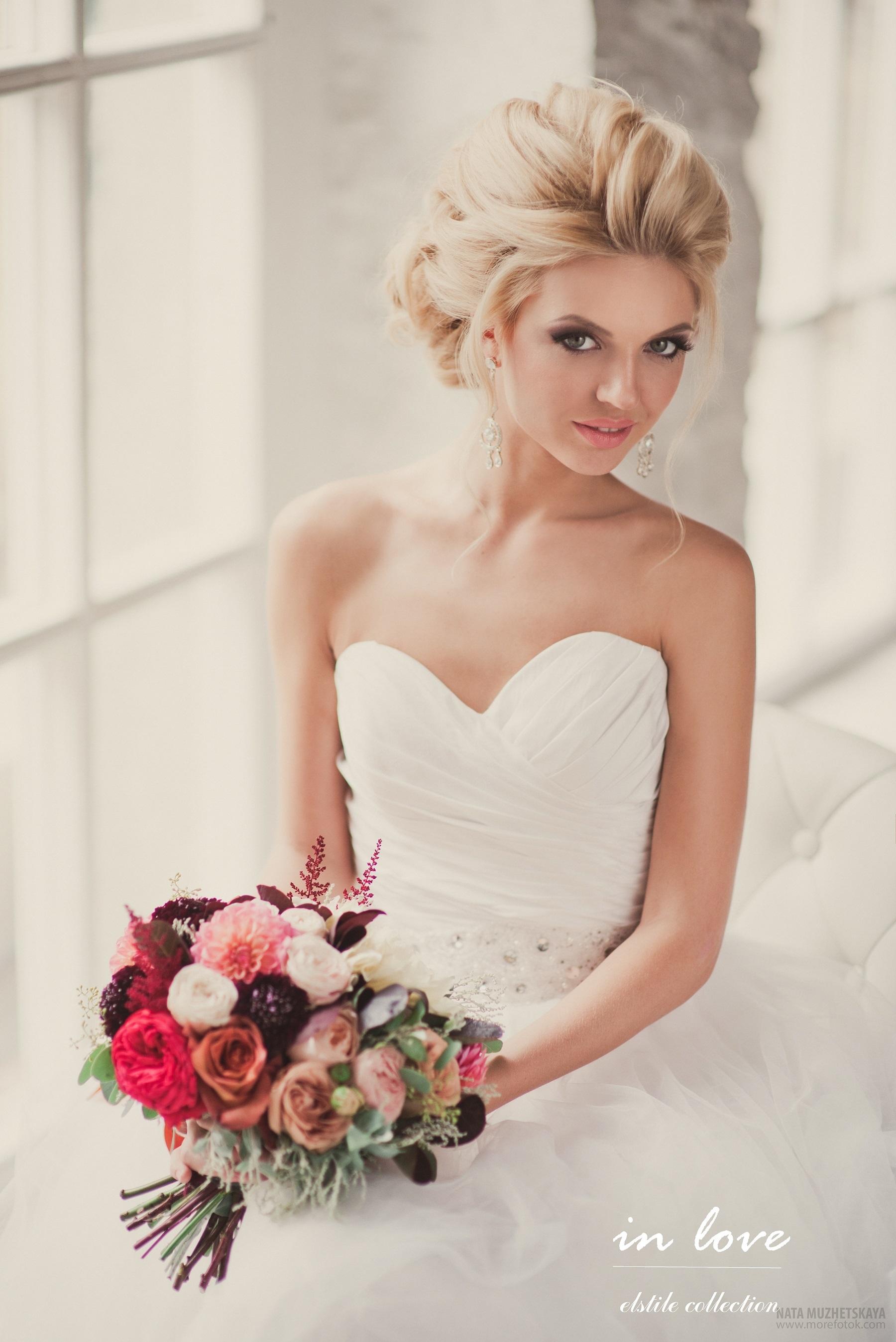 Свадебная прическа блондинка