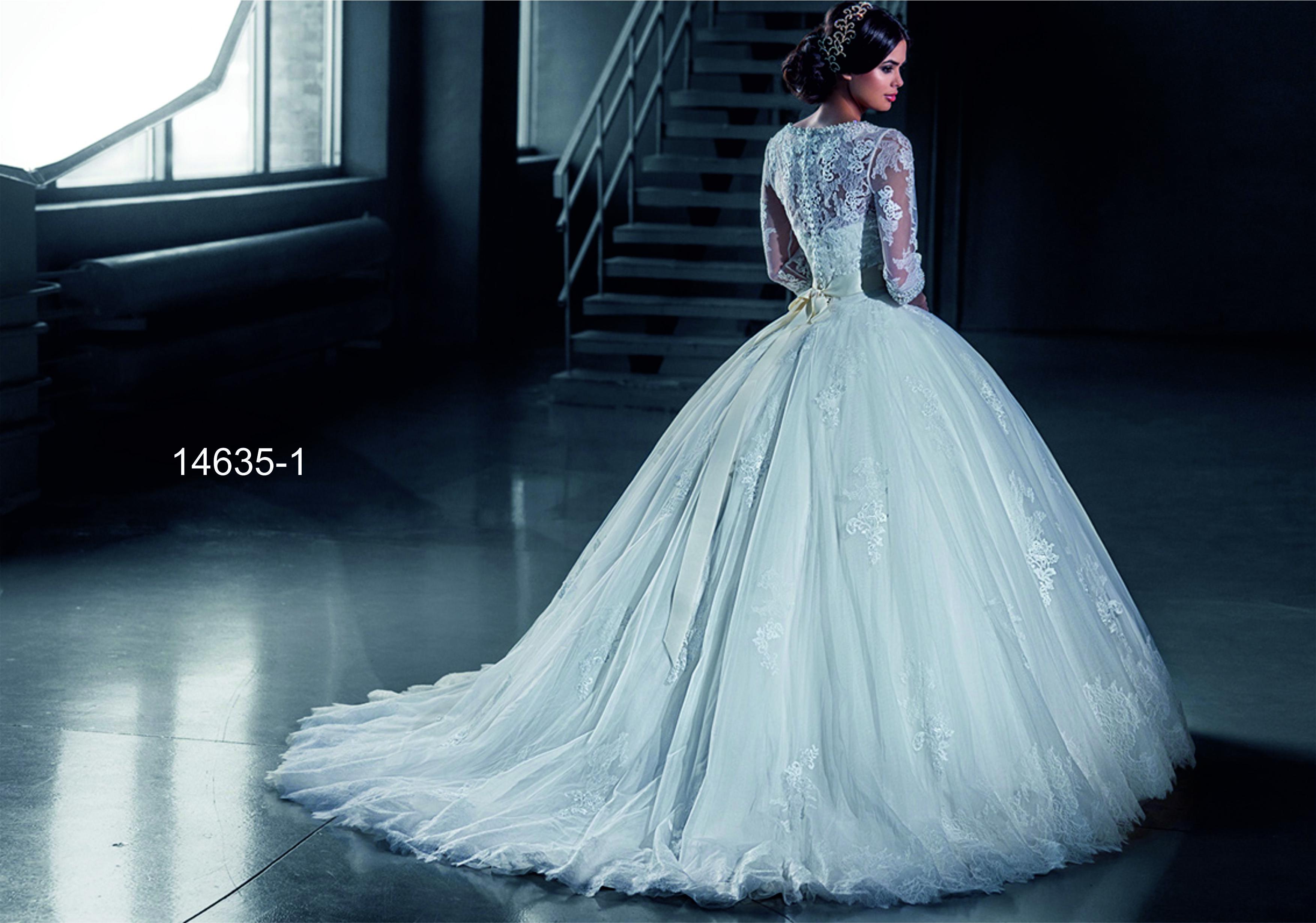 Фото пышных платьев со шлейфом 4