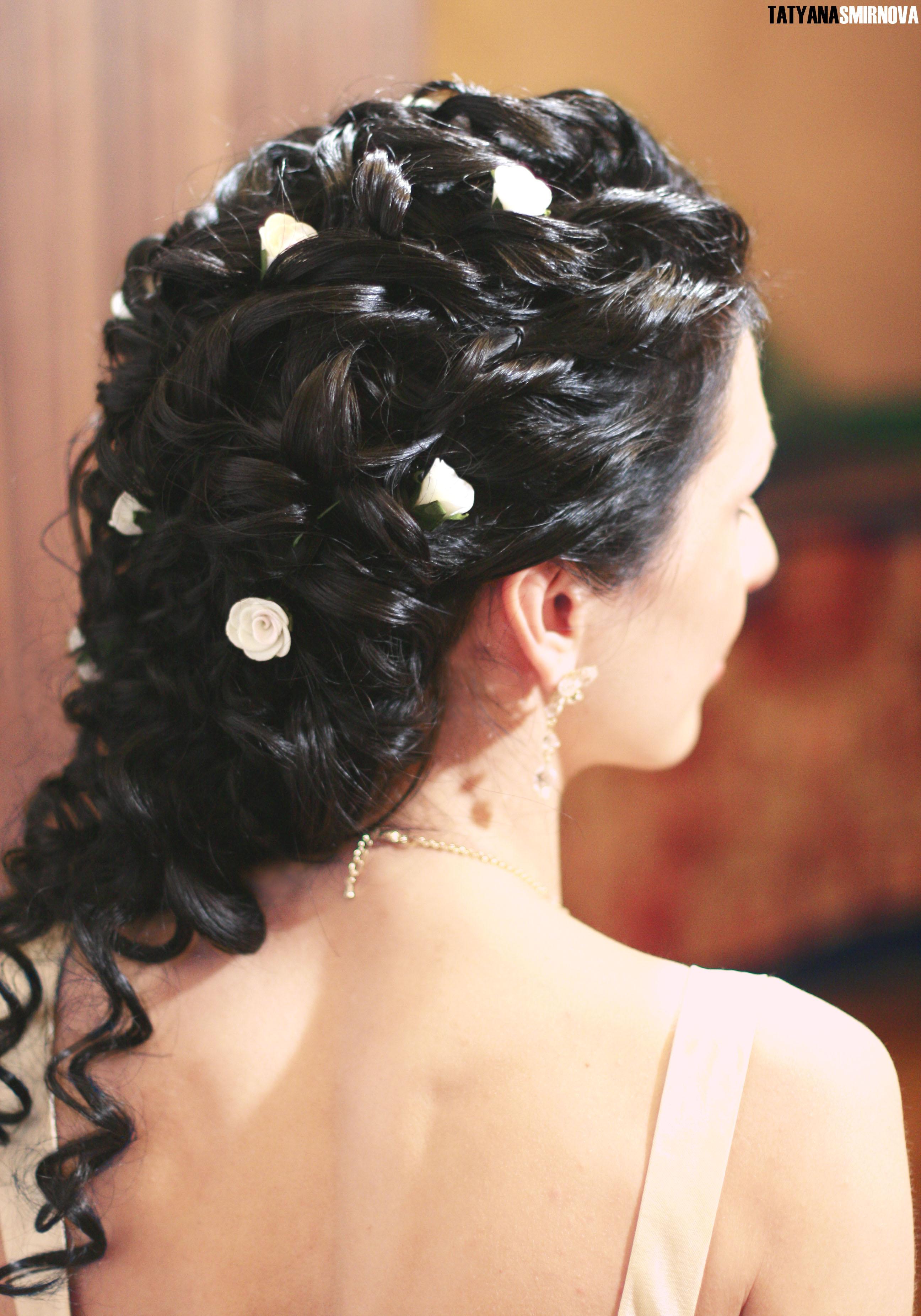 Свадебная прическа с накладным хвостом фото