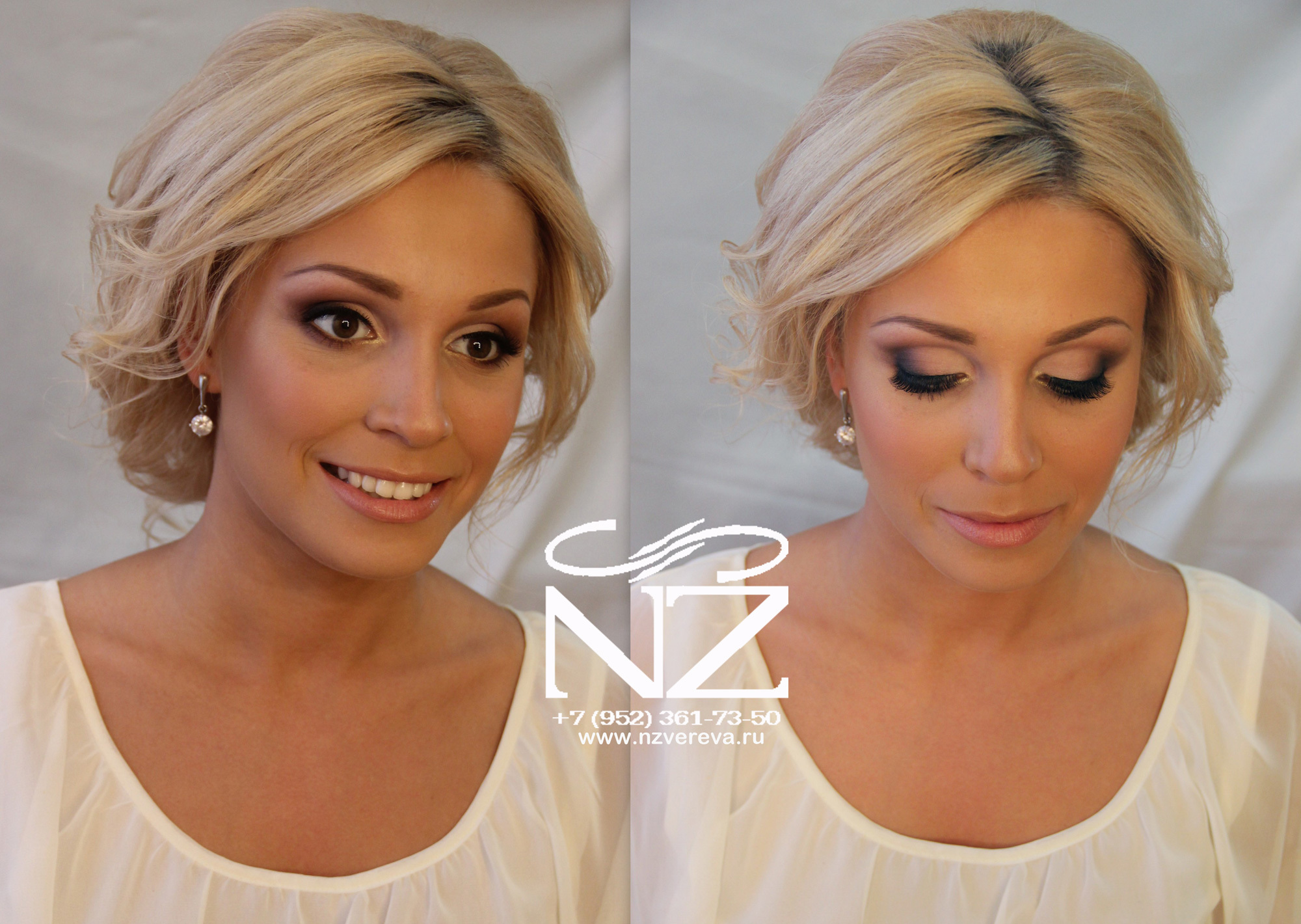 Свадебный макияж к квадратному лицу