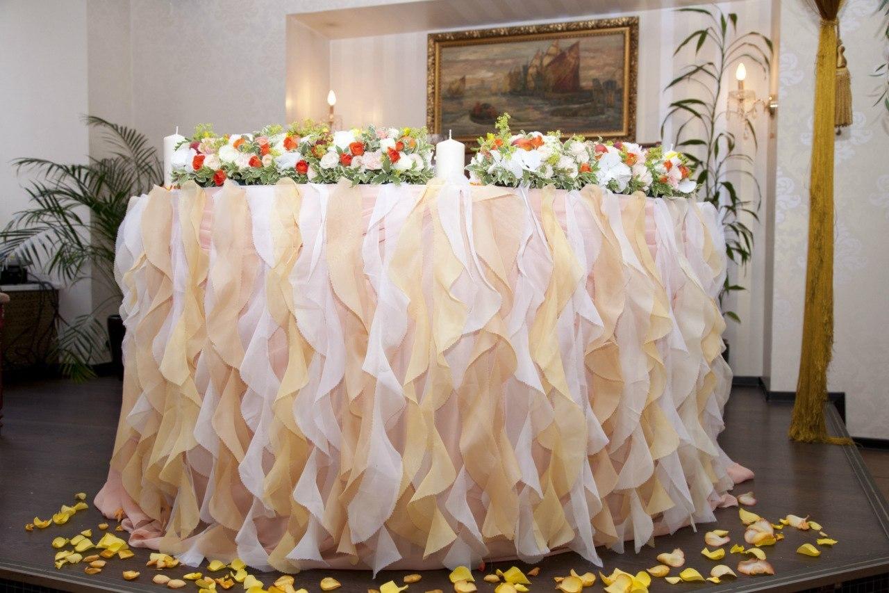 Оформление свадебного стола мастер-класс