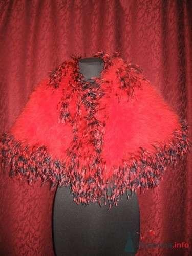 Красная меховая накидка для невесты. - фото 123 simik