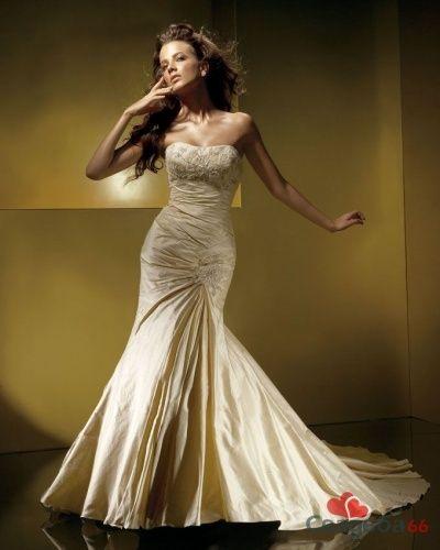 Бежевое свадебное платье. - фото 15 simik