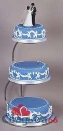 Синий свадебный торт. - фото 20 simik
