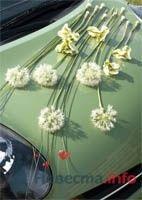 Украшение свадебного автомобиля цветами. - фото 48 simik