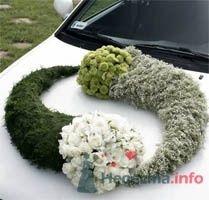 Украшение свадебного автомобиля живыми цветами в форме инь-ян. - фото 50 simik