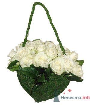Белые розы в букете невесты. - фото 194 simik