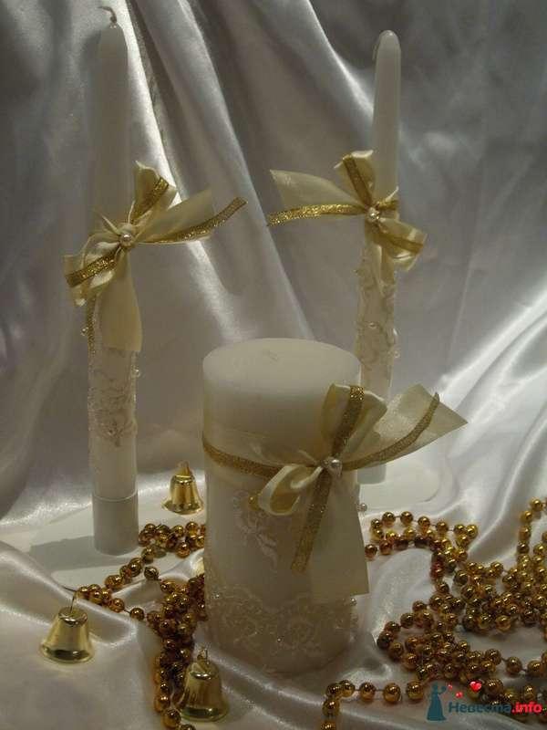 """Свеча  - домашний очаг """"Айвори"""" - фото 122089 """"Свадебный Бум"""" - свадебные принадлежности"""