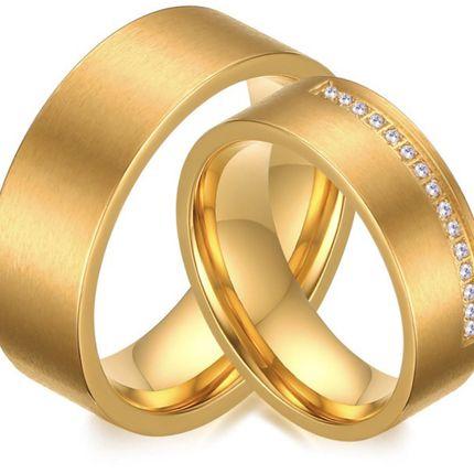 Кольца помолвочные покрытие золотом