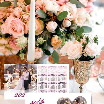 Дизайн рассадочных карточек-календариков с фото