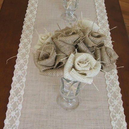 Рустик стиль украшение гостевых столов