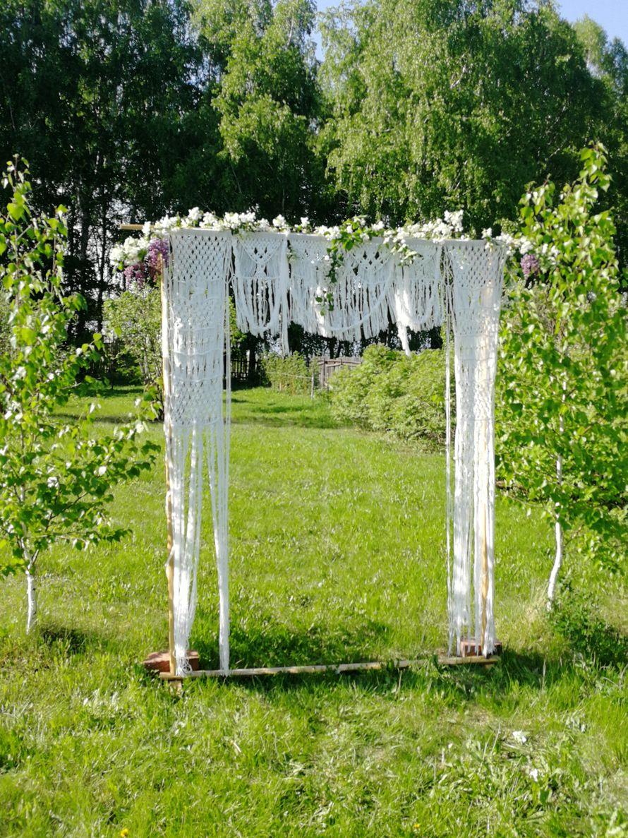 Арка для свадьбы из макраме в прокат - фото 19653433 Декоратор Алина Шубина