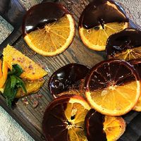 Апельсиновые дольки в шоколаде. Свадебный фуршет.