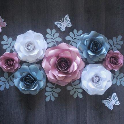 Объемные цветы из дизайнерской бумаги
