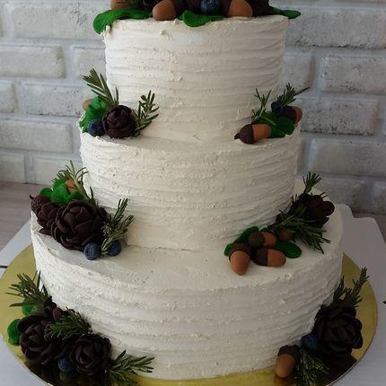 """Трехъярусный торт """"Сказочный лес"""", 1 кг"""