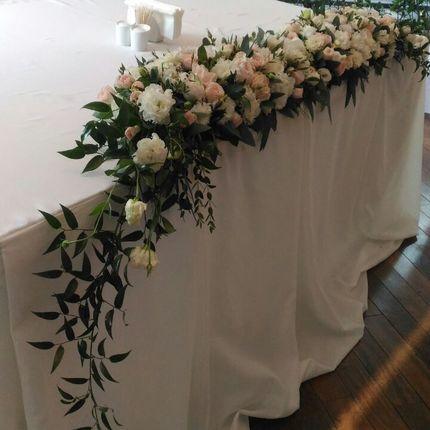 Композиции на стол жениха и невесты