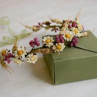 Веночек на голову - украшение для свадьбы в деревенском стиле, эко, рустик