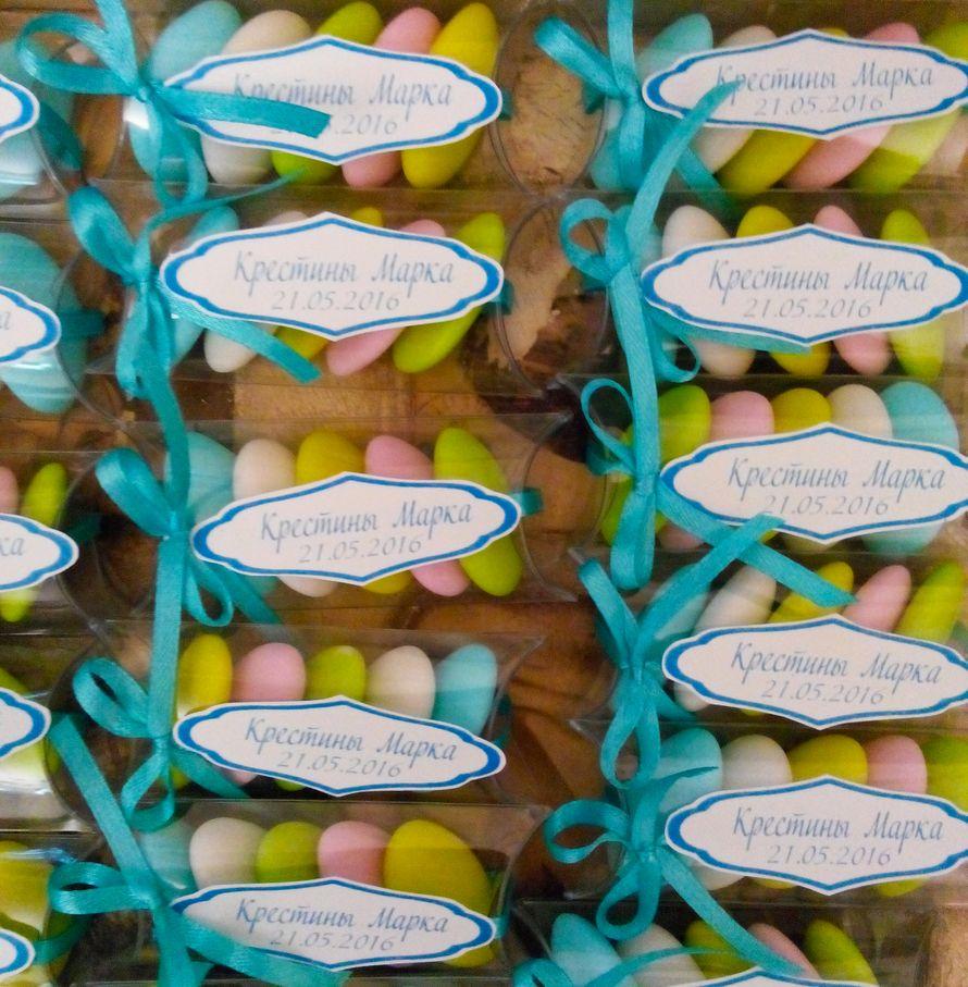 """бонбоньерки коробочки прозрачные с цветным драже - фото 15033882 Свадебные бонбоньерки """"Бон-бон"""""""