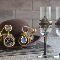 Аксессуары для свадьбы в викторианском стиле. Бокалы на заказ!