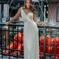 Платье на бретелях А-силуэта