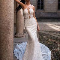 Платье-русалка без плечиков
