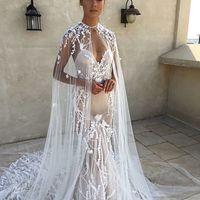 Платье-русалка с вышивкой