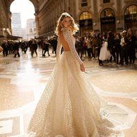 Свадебное платье в пол в цвете айвори