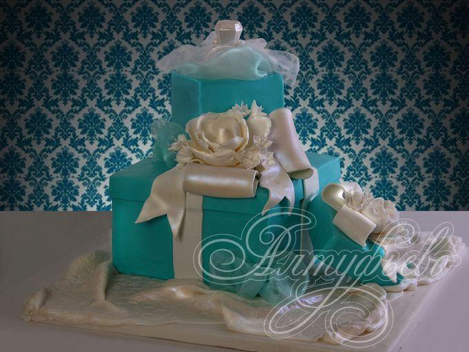 Фото предсвадебных тортов
