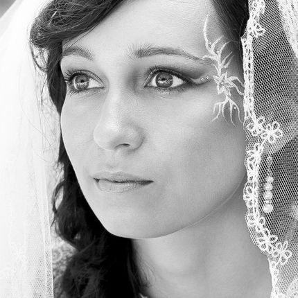 Авторский свадебный макияж с элементами фейс-арт