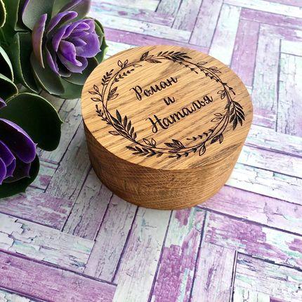 Деревянная шкатулка для колец из дуба