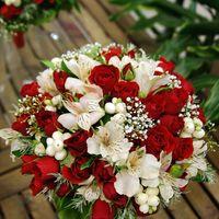 Бело-красный классический вариант - в нетрадиционном исполнении..... в ожидании зимы)