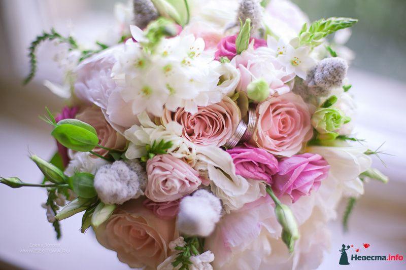 Букет невесты из розовых эустом, белой бувардии, нежно-розовых пионов - фото 127872 OmkaQ