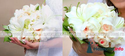 Фото 90117 в коллекции Букет невесты, подружек, и бутоньерка жениха!