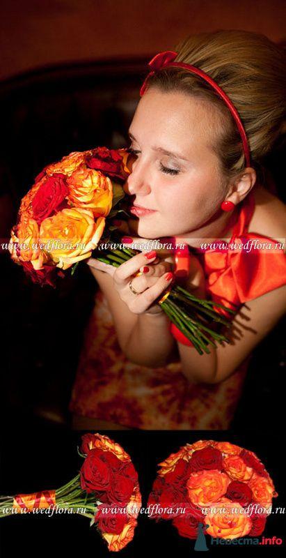 Фото 90124 в коллекции Букет невесты, подружек, и бутоньерка жениха!