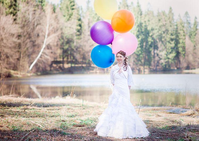 Свадебная фотосессия Кати и Димы в Усадьбе Абрамцево