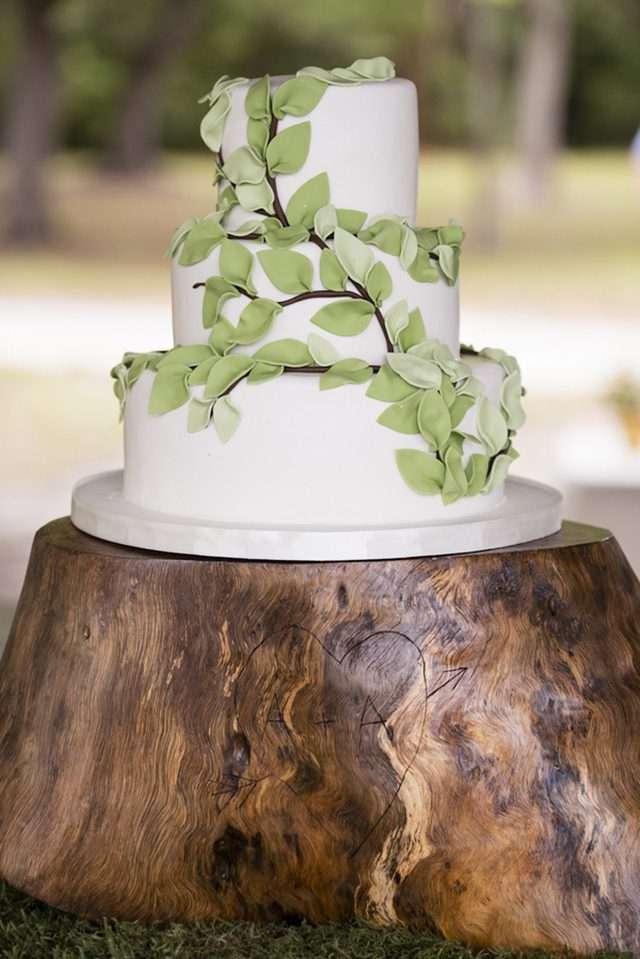 эко стиль свадебного торта