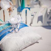 Подушечки для колец для церемонии на месте рождения Афродиты.Кипр. Июль 2014