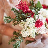 букет невесты, будуарное платье