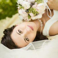 Свадебный букет с пионами и лавандой в стиле прованс