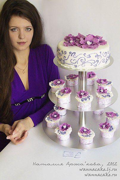 Фото 2205396 в коллекции Мои фотографии - Свадебные торты от Наталии Аржаковой